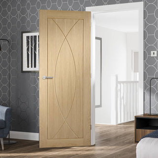 Image: Bespoke oak flush modern door
