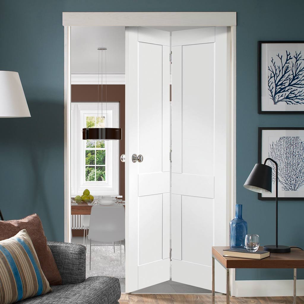 size 40 b33a6 592f0 Victorian Shaker Bifold Door - White Primed