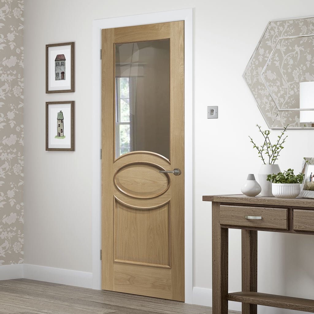 Bespoke Calabria Oak Glazed Door