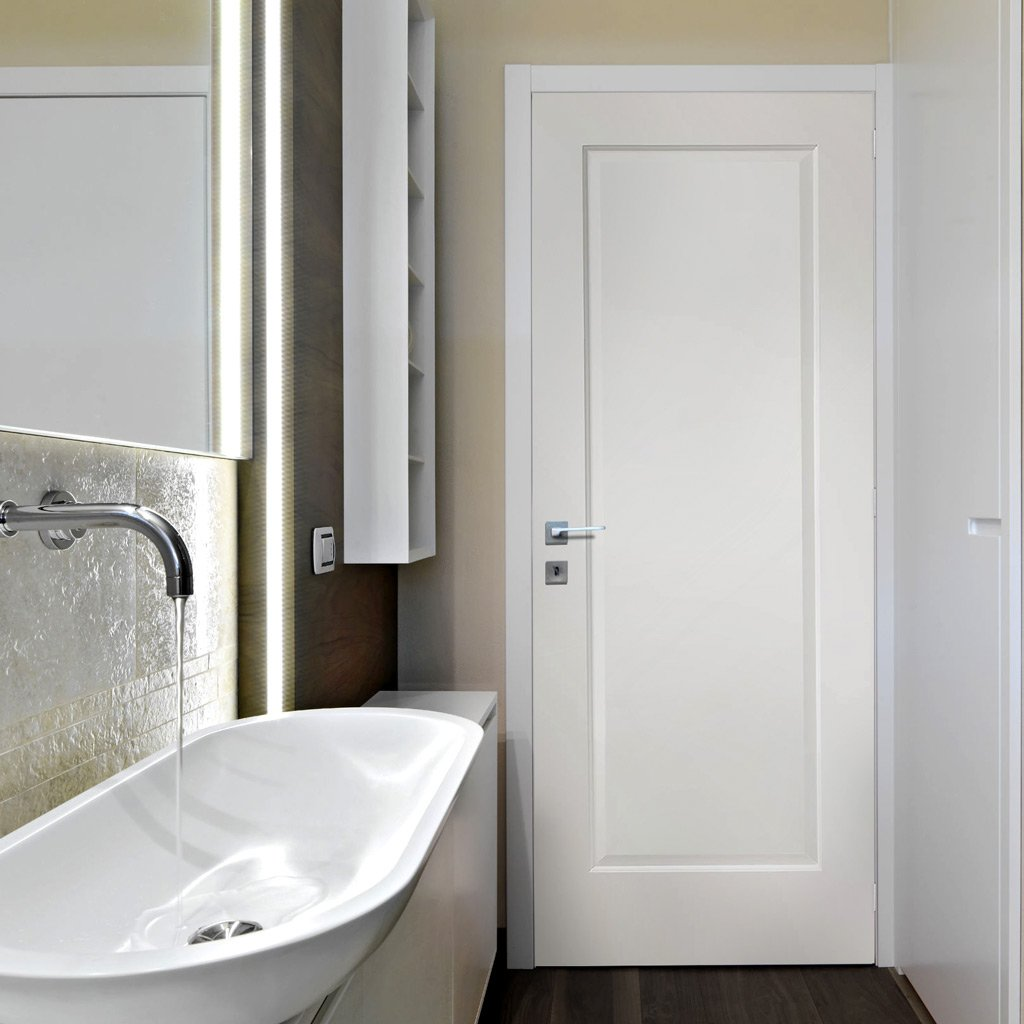 Bespoke Cesena White 1 Panel Door - Prefinished