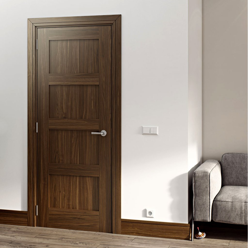 Walnut veneered interior door