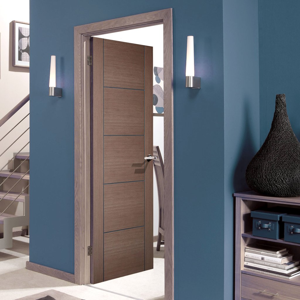 Vancouver Chocolate Grey Internal Door - Prefinished