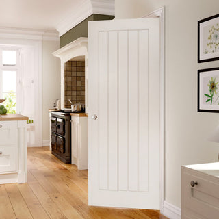 Image: Ely White Primed Fire Door - 1/2 Hour Fire Rated