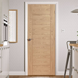Image: Fire Rated Palermo Oak Door - 1/2 Hour Fire Rated