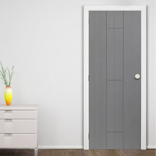 Image: J B Kind Painted Ardosia Slate Grey Flush Door - Prefinished