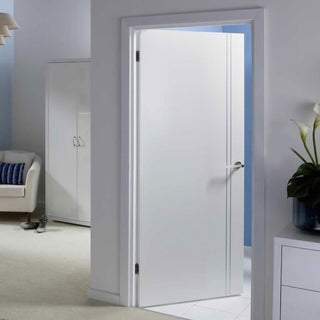 Image: Sierra Blanco Flush Door - White Painted