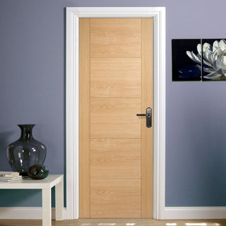 Image: door set kit vancouver oak 5 panelled style flush