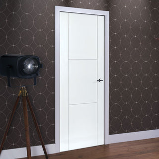 Image: Limelight Mistral White Primed Flush Door