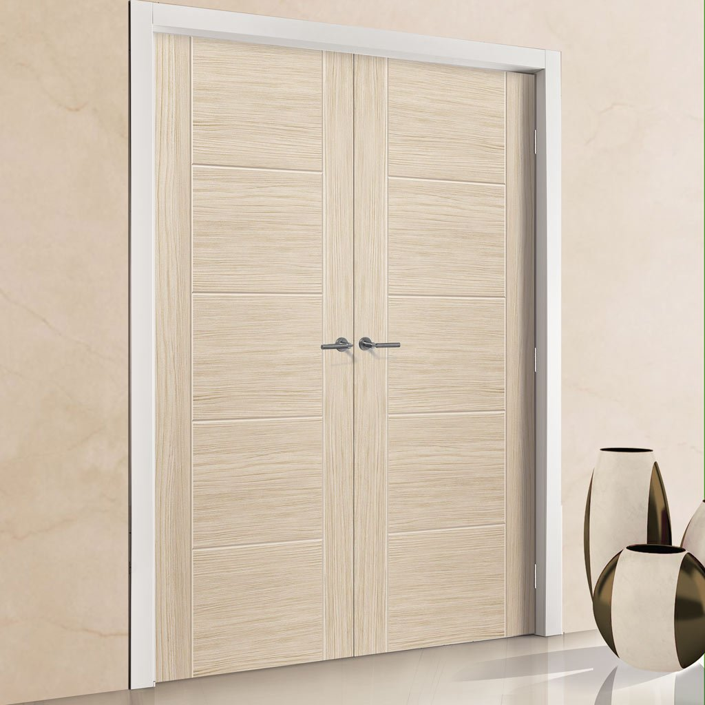 J B Kind Laminates Ivory Painted Door Pair - Prefinished