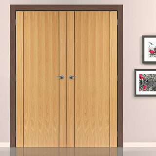 Image: J B Kind Chartwell Oak Door Pair - Prefinished