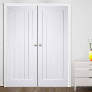 Image: Mexicano Door Pair - White Primed