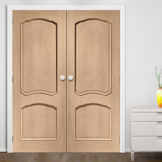 Image: Louis Oak Door Pair - Raised Mouldings