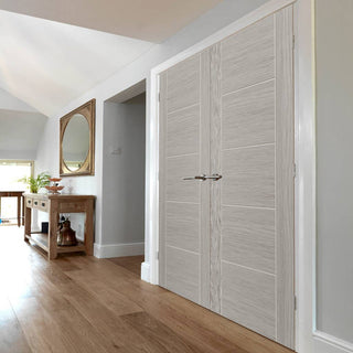 Image: J B Kind Laminates Lava Painted Door Pair - Prefinished