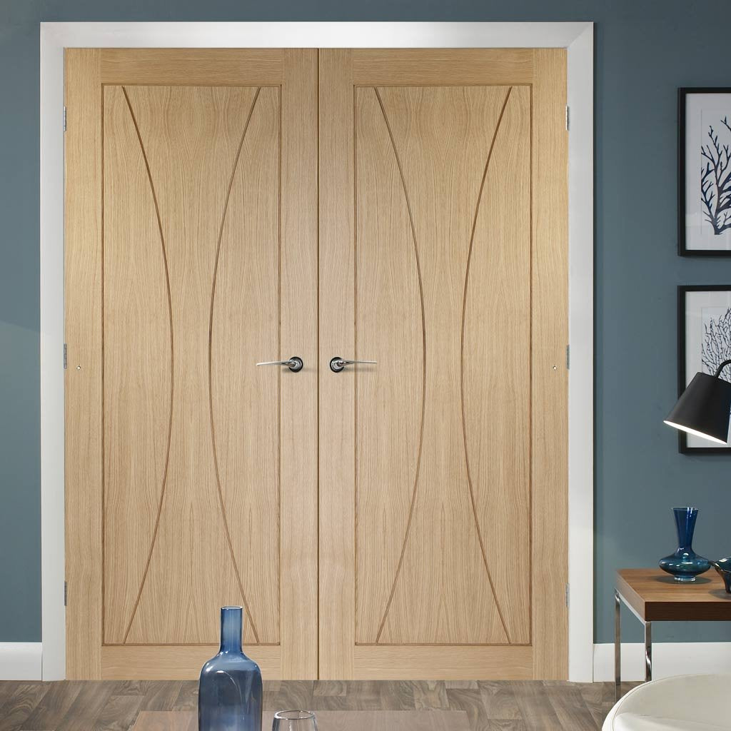 Bespoke Verona Oak Flush Door Pair