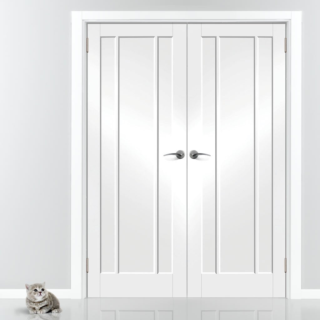 Worcester 3 Panel Door - White Primed Pair