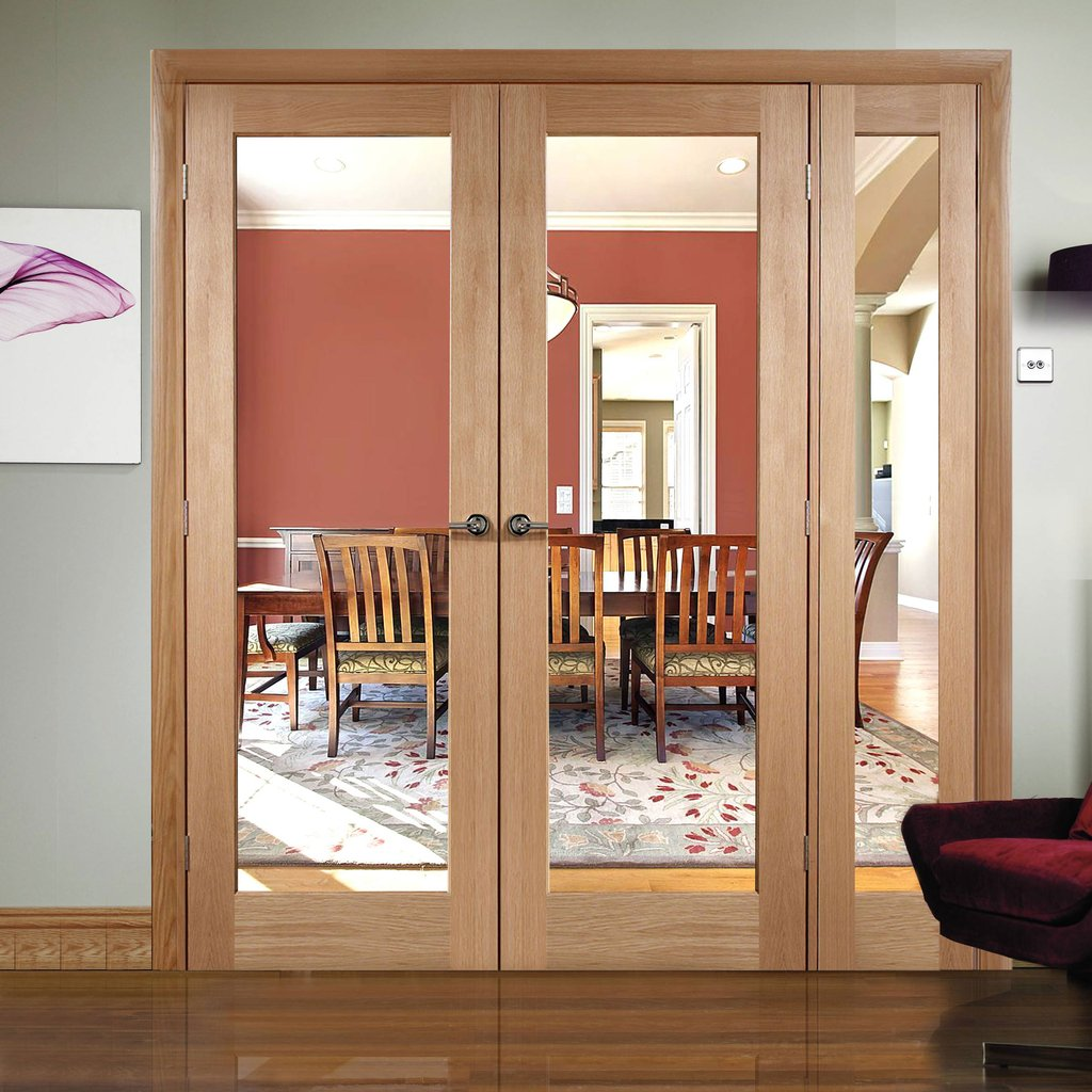 Easi-Frame Oak Door Set - GOSHAP10-COEOP9L - 2005mm Height - 1585mm Wide.