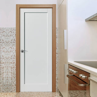 Image: Antigua Fire Door - White Primed - 1/2 Hour Fire Rated