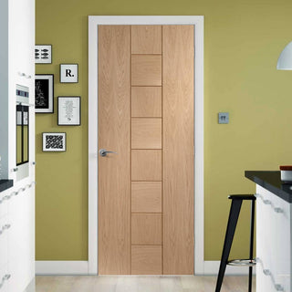 Image: Fire Rated Messina Oak Door - 1/2 Hour Fire Rated