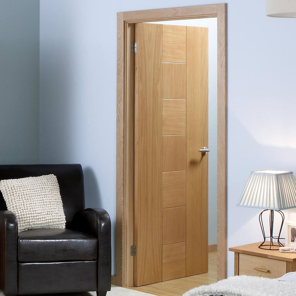 LPD Joinery Fire Door, Catalonia Oak - 1/2 Hour Fire Rated - Prefinished