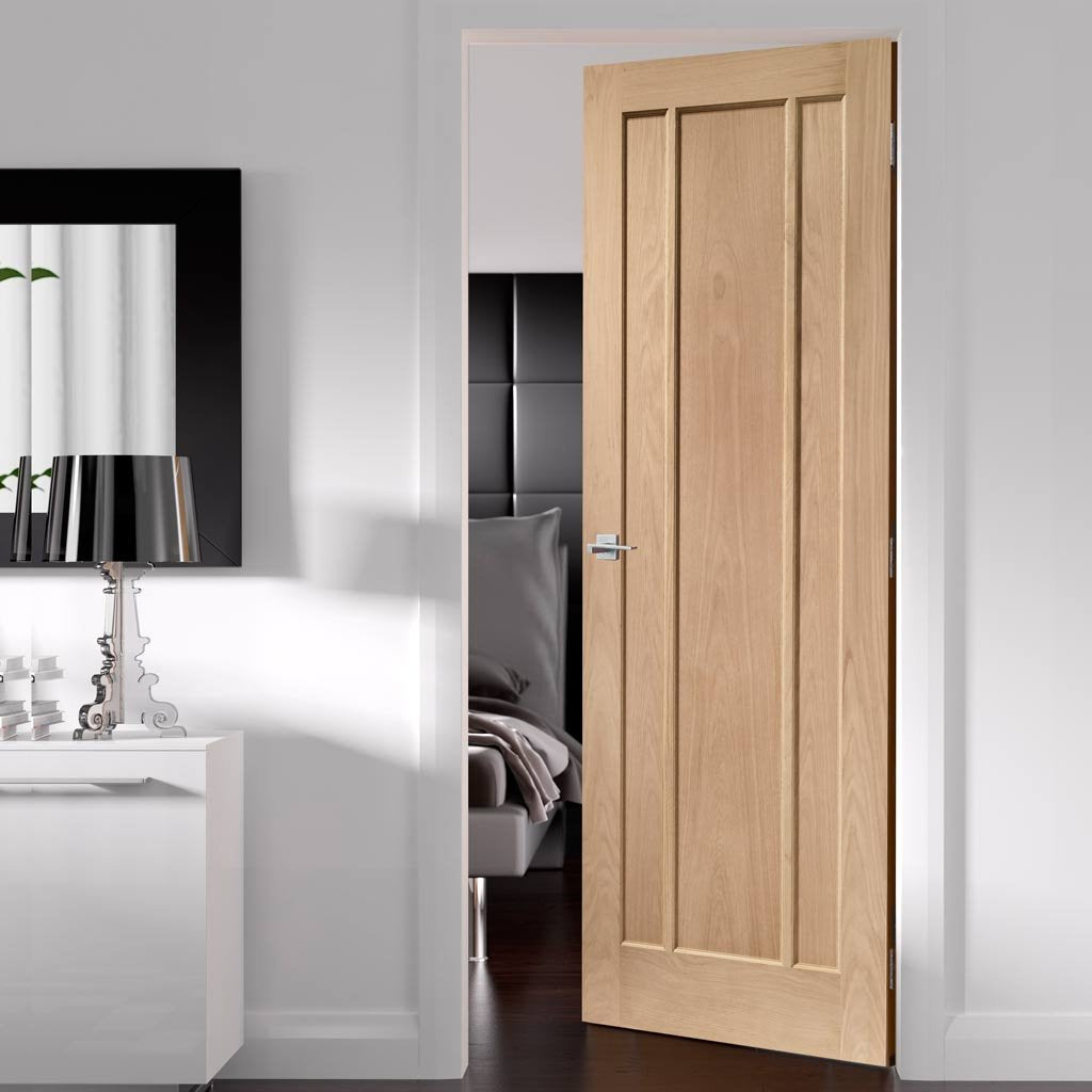 Fire Rated Worcester 3 Panel Oak Door - 1/2 Hour Fire Rated
