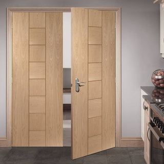 Image: FD30 Fire Pair, Messina Oak Door Pair - 30 Minute Rated