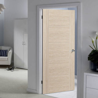Image: J B Kind Laminates Ivory Painted Fire Door - 1/2 Hour Fire Rated - Prefinished