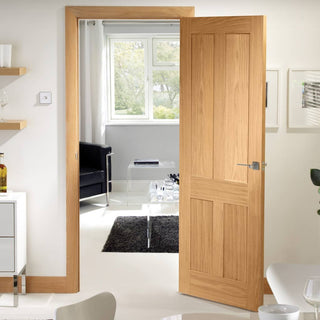 Image: Fire Rated Victorian Shaker Oak Door - 1/2 Hour Fire Rated