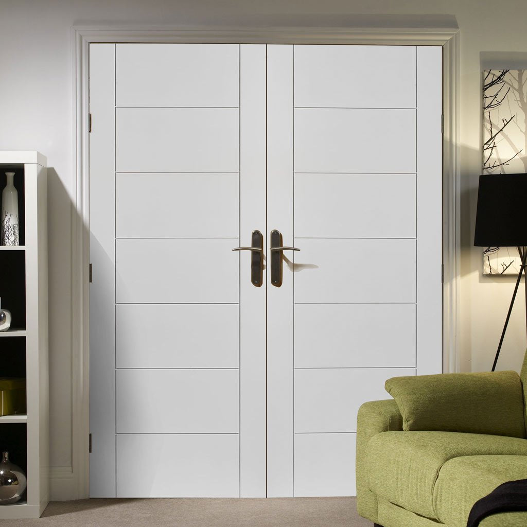 Palermo Flush Door - White Primed Pair
