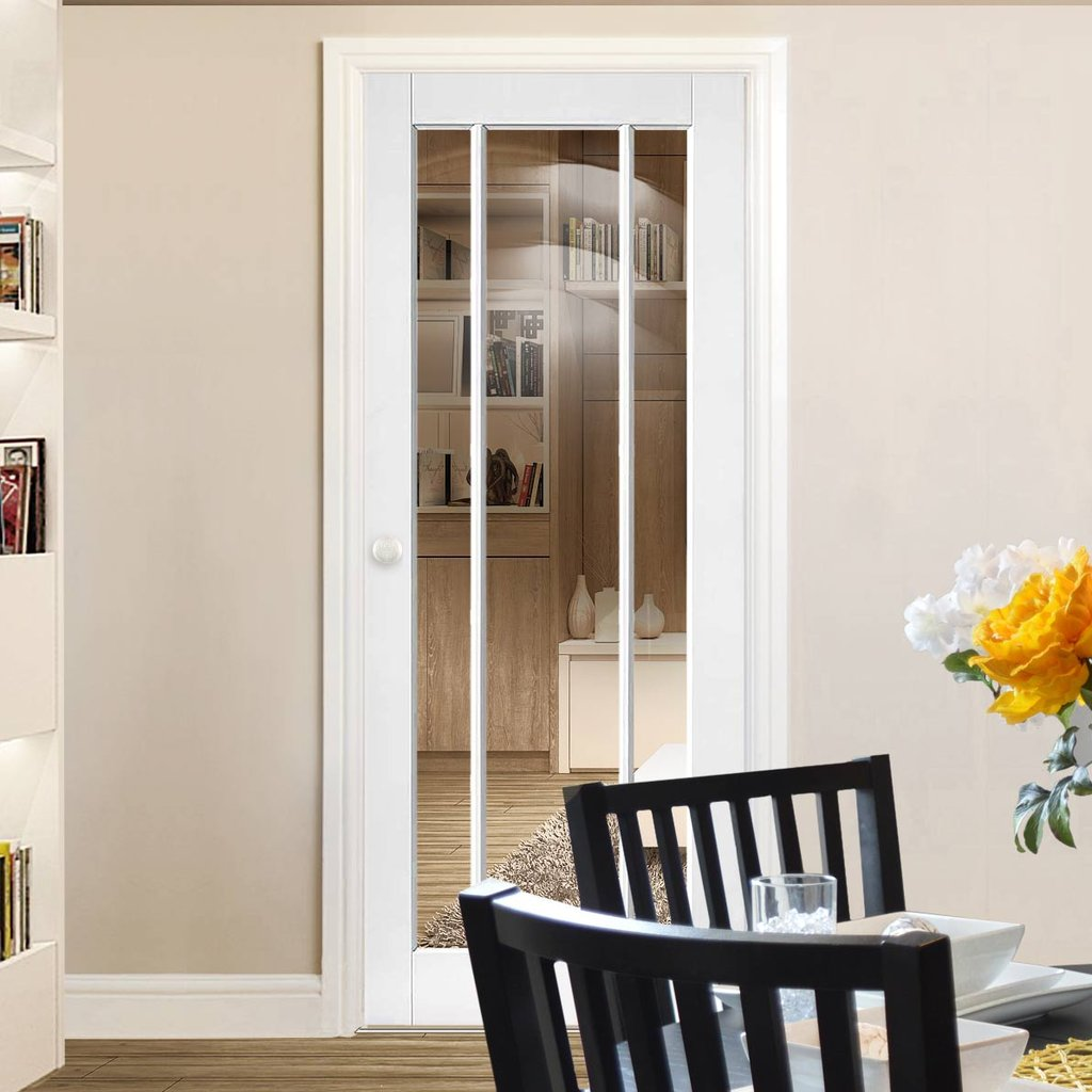 Worcester panelled white door
