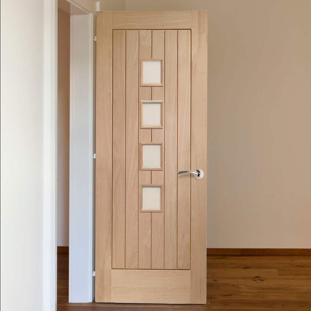 Bespoke Contemporary Suffolk Oak 4L Glazed Door