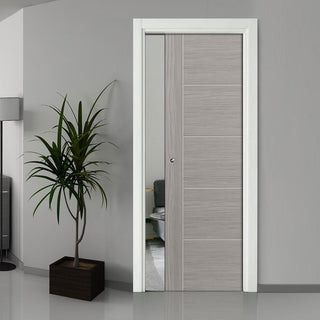 Image: Laminates Lava Painted Single Evokit Pocket Door - Prefinished