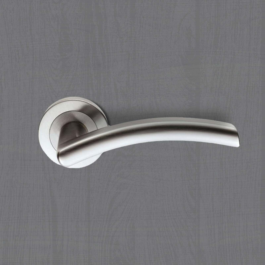 Serozzetta Gris SZS070 Lever Latch Handles on Round Rose - 2 Finishes