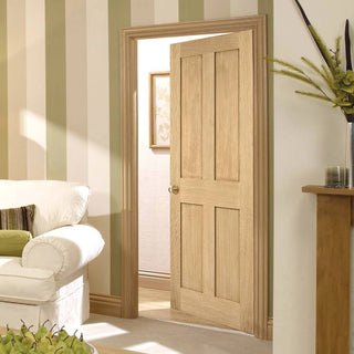 Image: london 4 panel oak door