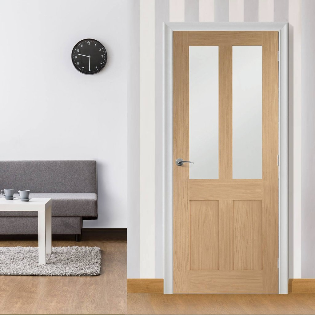 Shaker style glazed interior door