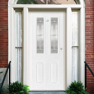 Image: GRP White Malton Composite Door- Leaded Double Glazing