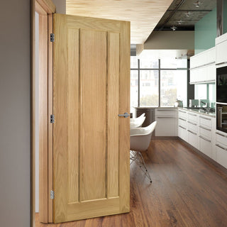 Image: Norwich Real American Oak Veneer Fire Door,1/2 Hour Fire Rated - Unfinished
