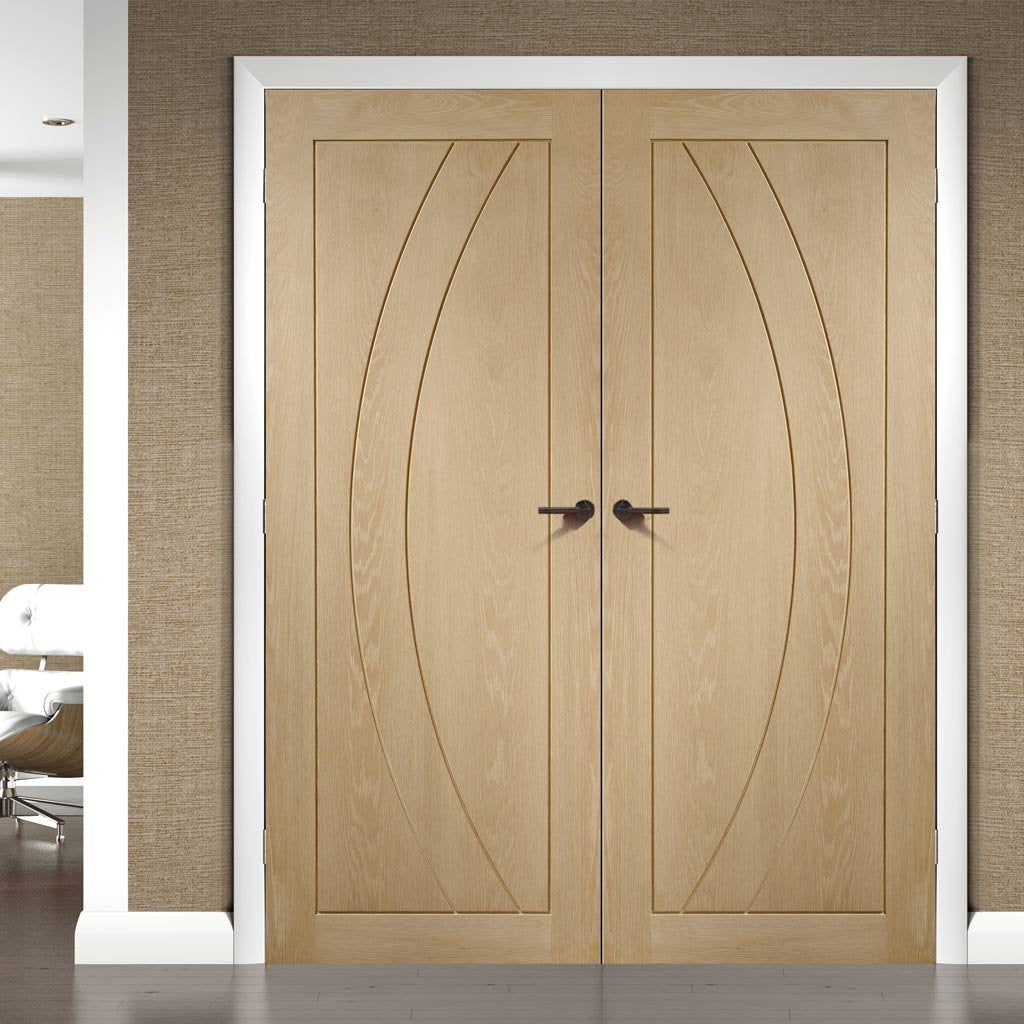 Bespoke Salerno Oak Flush Door Pair