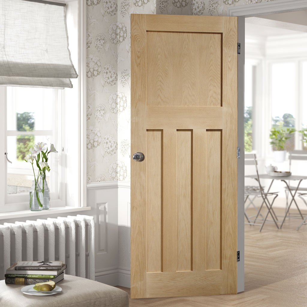 Bespoke DX 1930'S Oak Panel Door - Prefinished