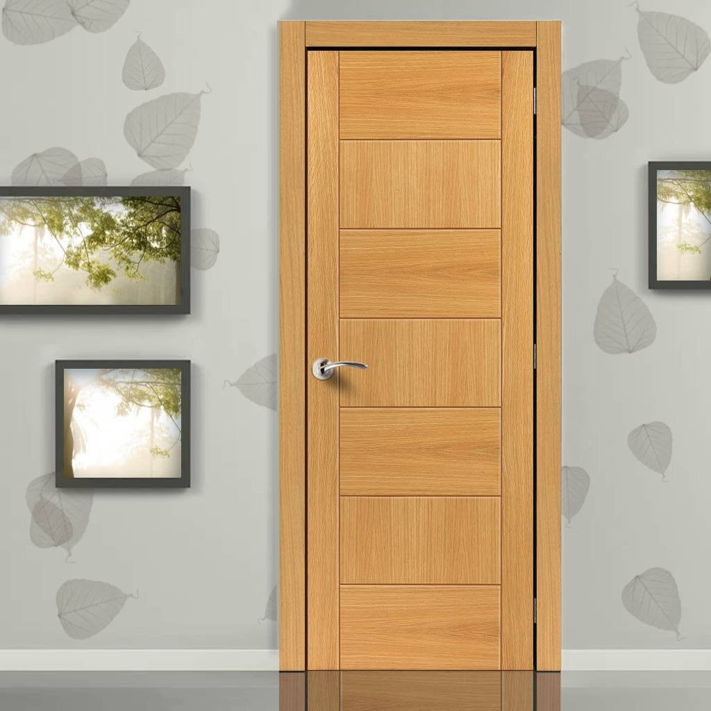 Brisa Sirocco Flush Oak Veneered Door - Prefinished