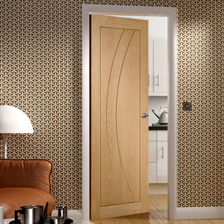 Image: Salerno Oak Flush Door - Prefinished - From Xl Joinery