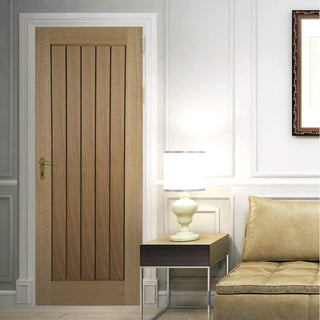 Image: Mexicano Oak Door - Vertical Lining