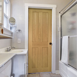 Image: Eton Real American White Oak Veneer Door - Unfinished