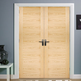 Image: Sofia Oak Door Pair - 1/2 Hour Fire Rated - Prefinished