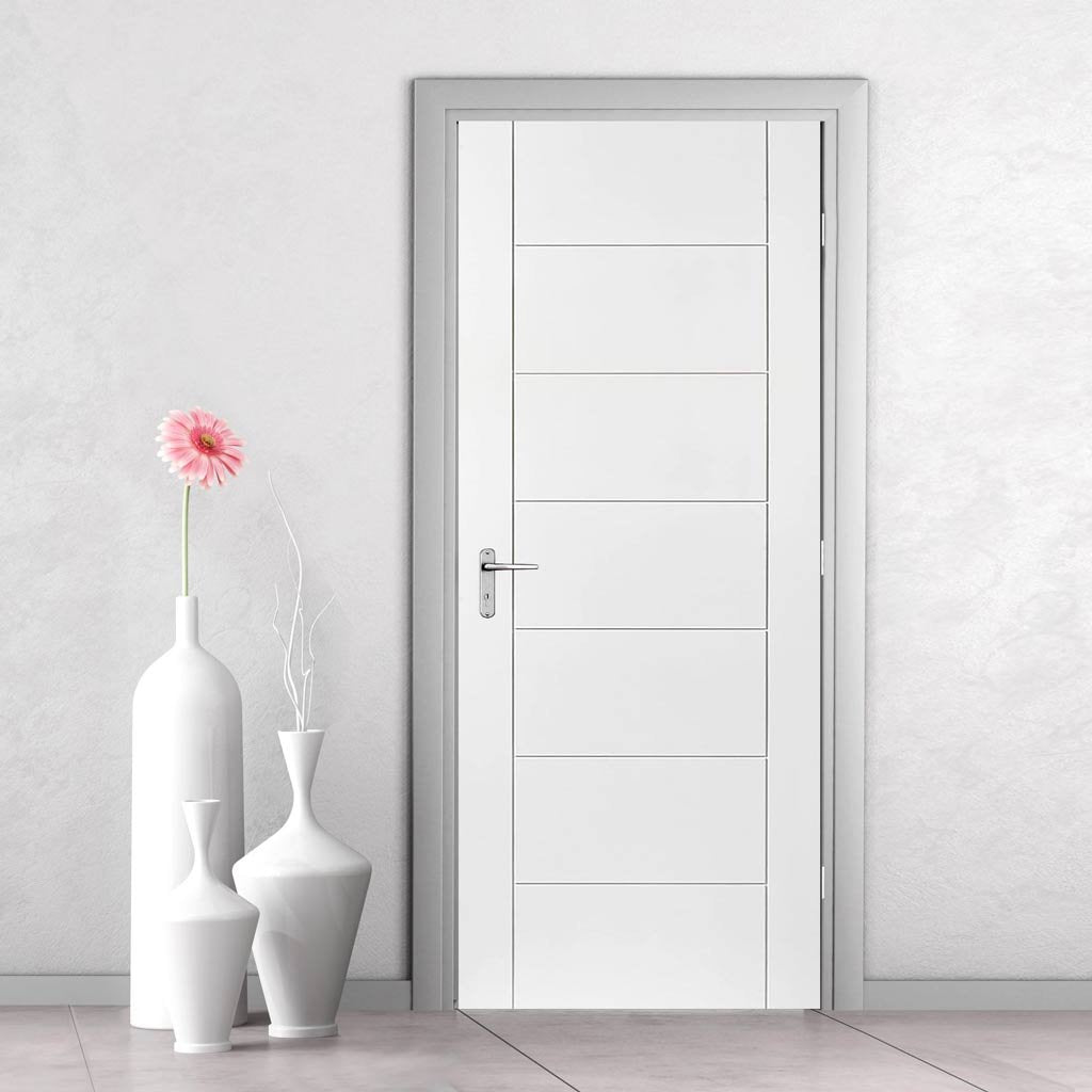 bespoke palermo white primed flush door