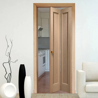 Image: Interior Pattern 10 Oak Bi-Fold Panel Door