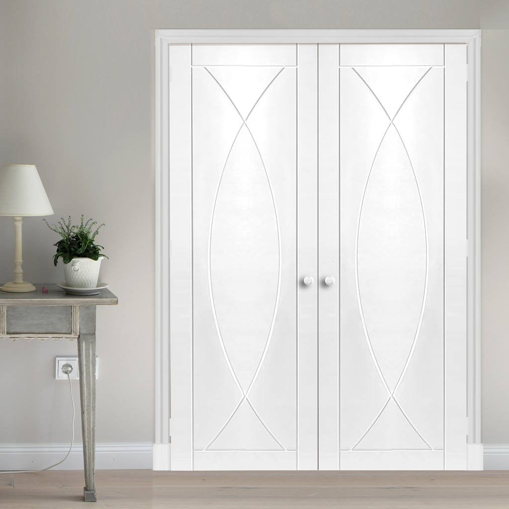 Bespoke Pesaro Flush Door - White Primed Pair