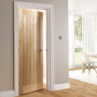 Image: Ely Oak Fire Door - 1/2 Hour Fire Rated - Prefinished