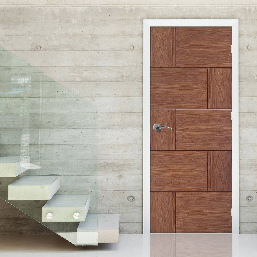Bespoke Ravenna Walnut Flush Door - Prefinished