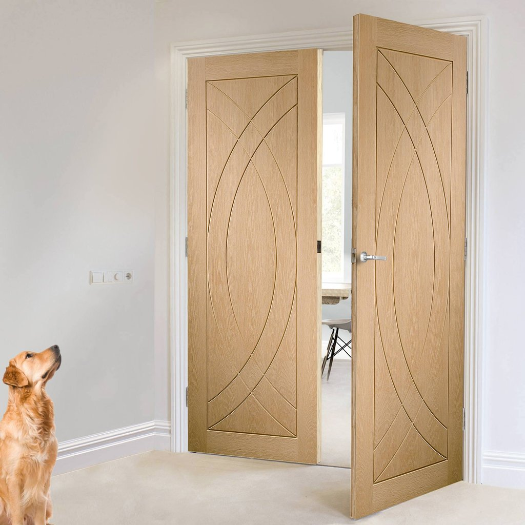 Bespoke Treviso Oak Flush Door Pair