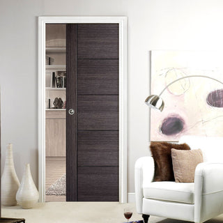 Image: Vancouver Ash Grey Single Evokit Pocket Door - Prefinished